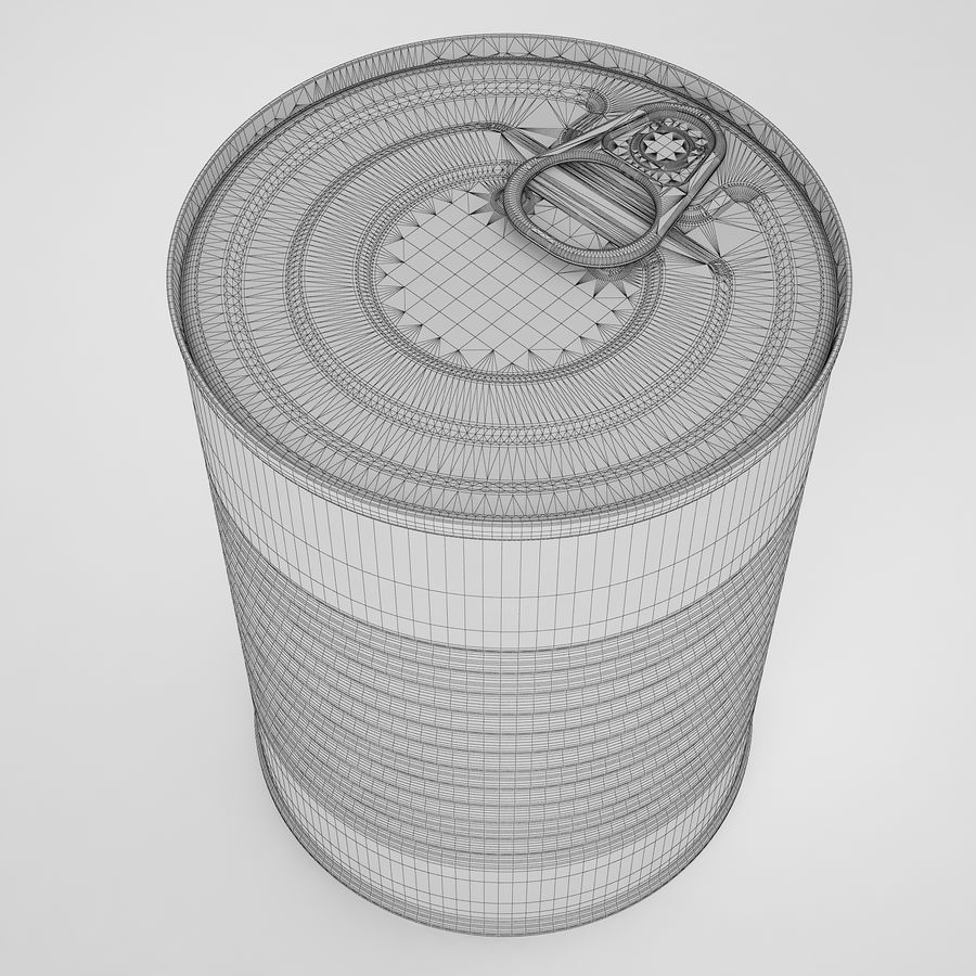 Food Can 02 royalty-free 3d model - Preview no. 10