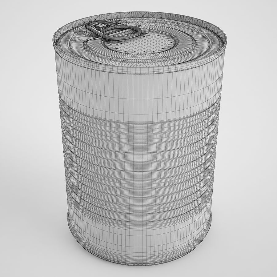 Food Can 02 royalty-free 3d model - Preview no. 3