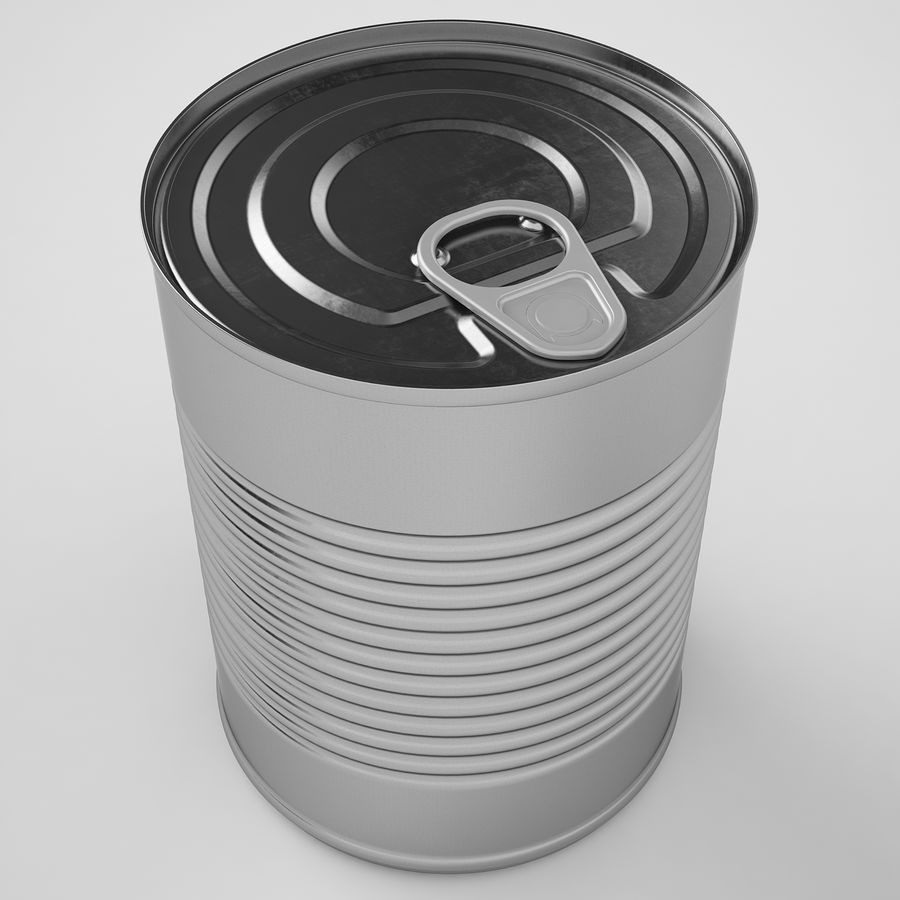Food Can 02 royalty-free 3d model - Preview no. 11