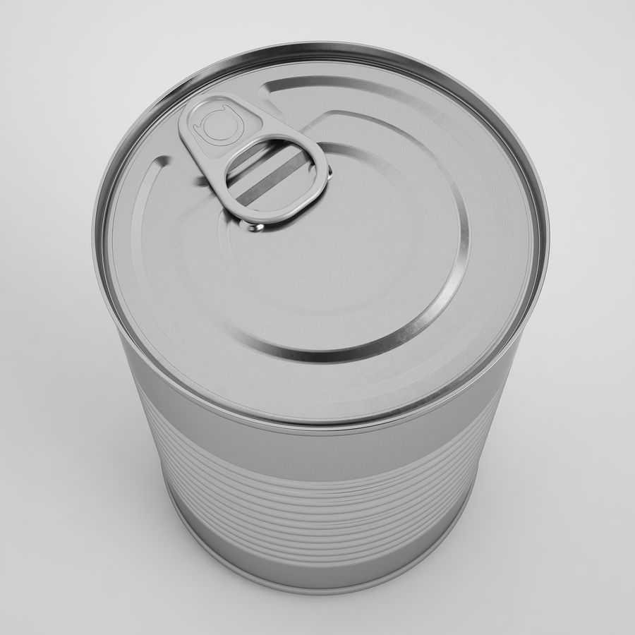 Food Can 02 royalty-free 3d model - Preview no. 7