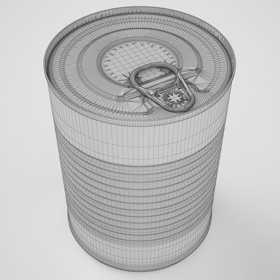 Food Can 02 royalty-free 3d model - Preview no. 12