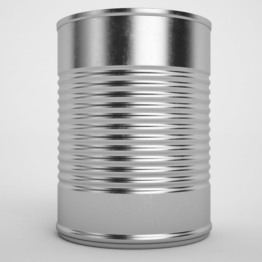 Food Can 02 royalty-free 3d model - Preview no. 5