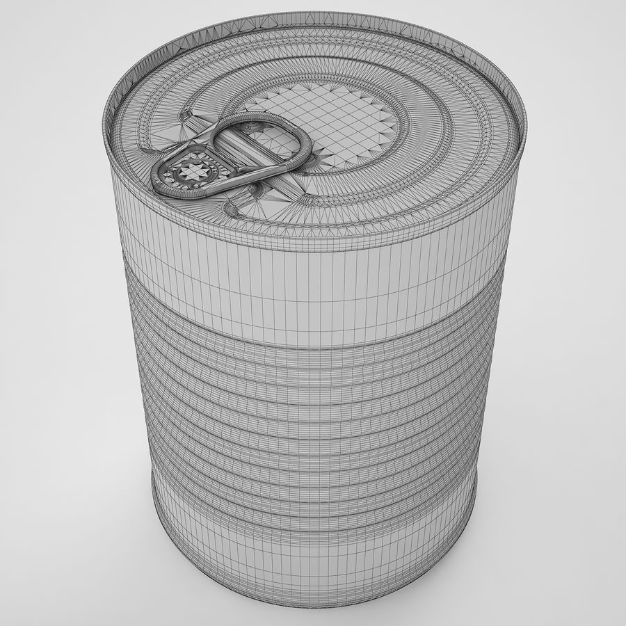 Food Can 02 royalty-free 3d model - Preview no. 14