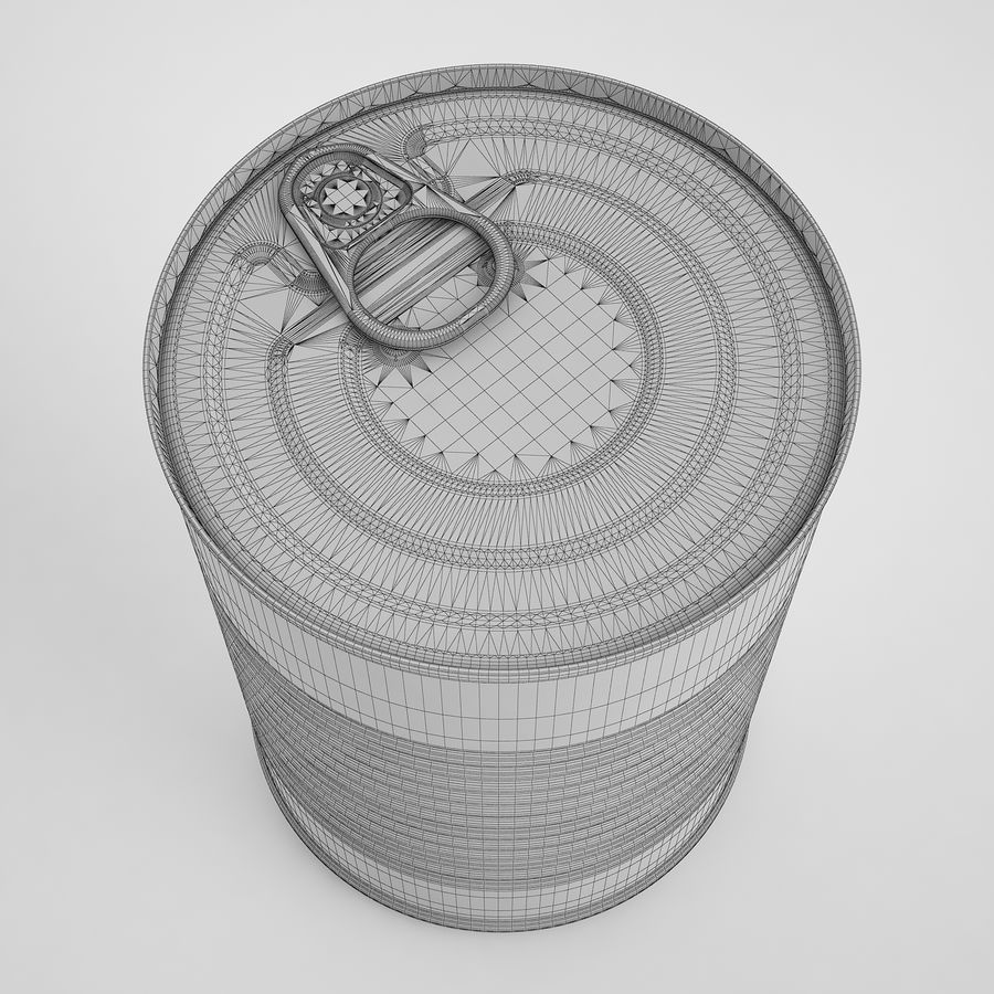 Food Can 02 royalty-free 3d model - Preview no. 8