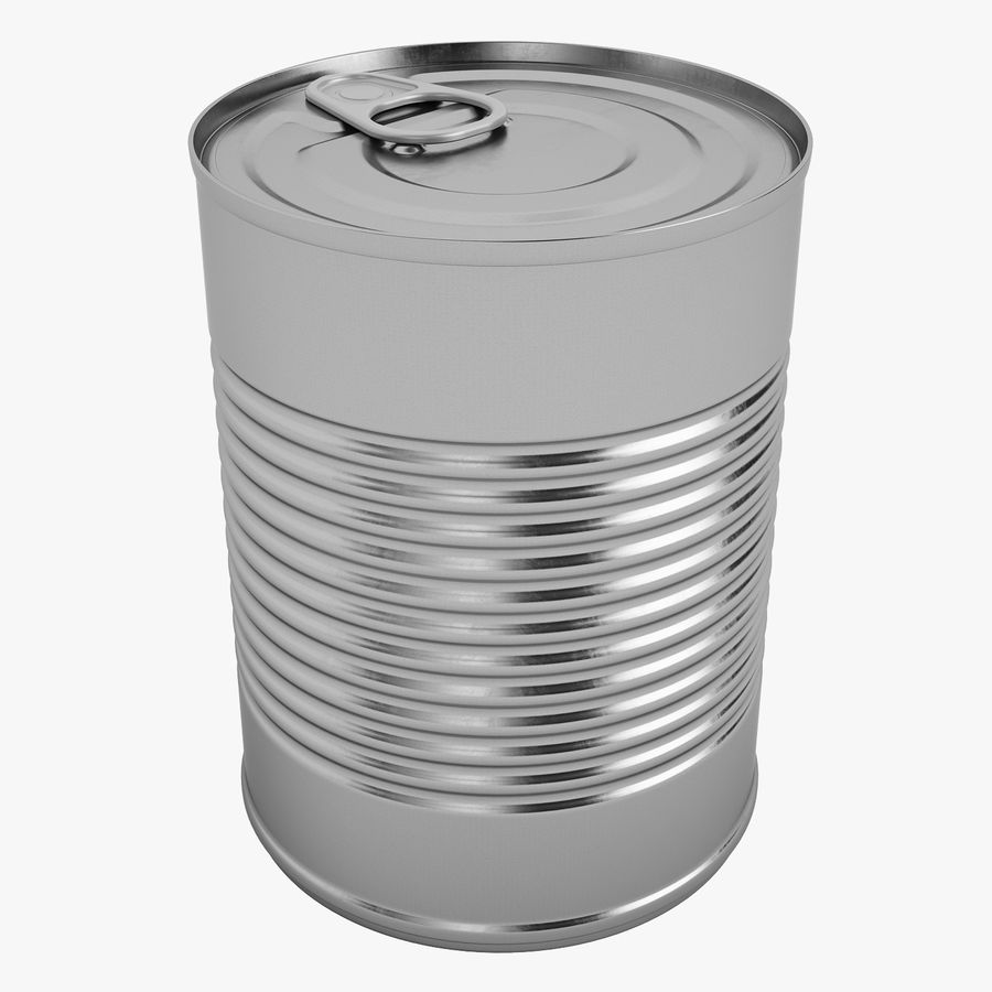 Food Can 02 royalty-free 3d model - Preview no. 1