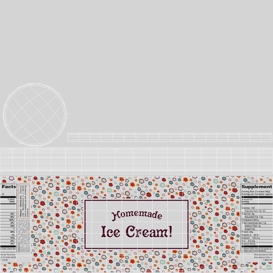 Recipiente de Garrafas de Sorvete royalty-free 3d model - Preview no. 14