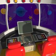 Cartoon ruimtevaartuig cabine 3d model
