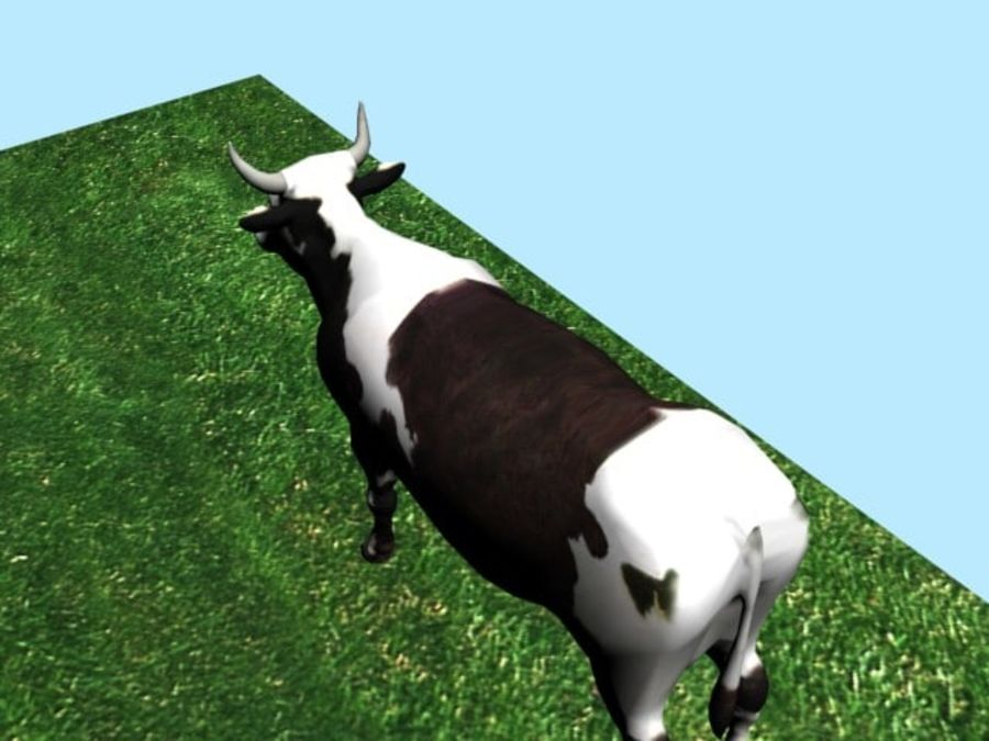 Mucca royalty-free 3d model - Preview no. 4