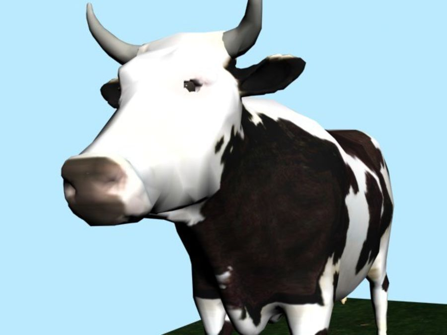 Mucca royalty-free 3d model - Preview no. 3