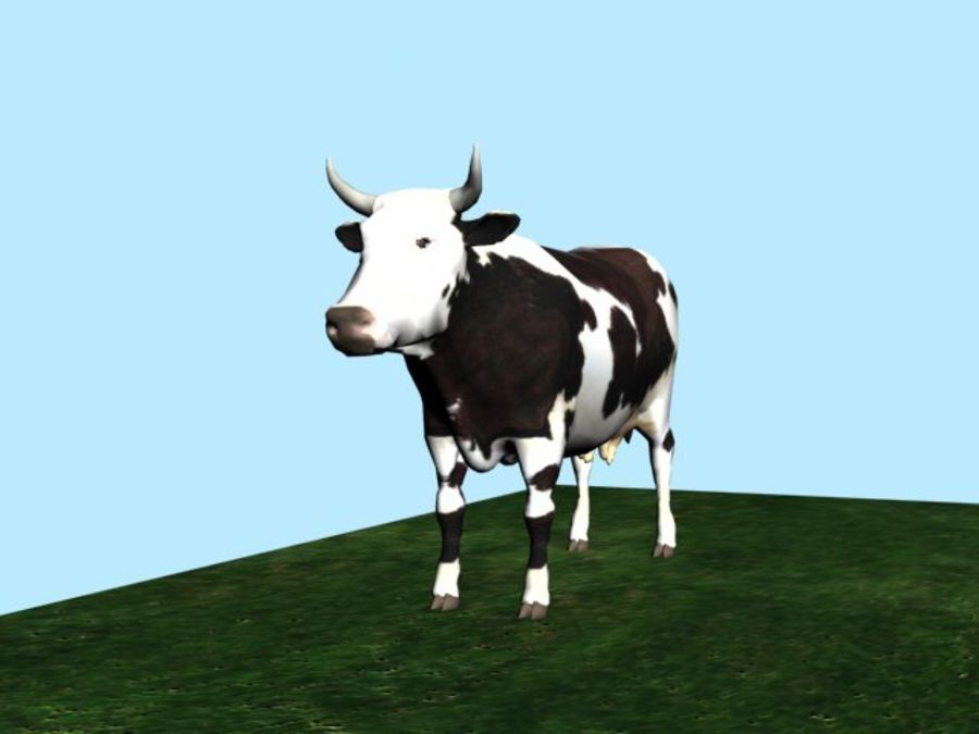 Mucca royalty-free 3d model - Preview no. 2