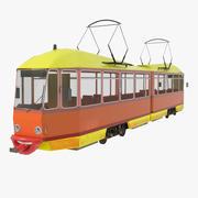 трамвайная линия 3d model