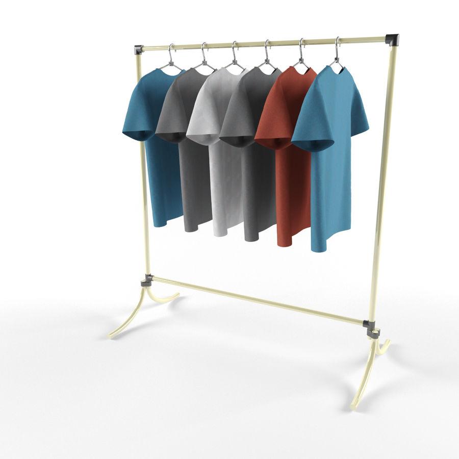 T-shirt met hanger royalty-free 3d model - Preview no. 3