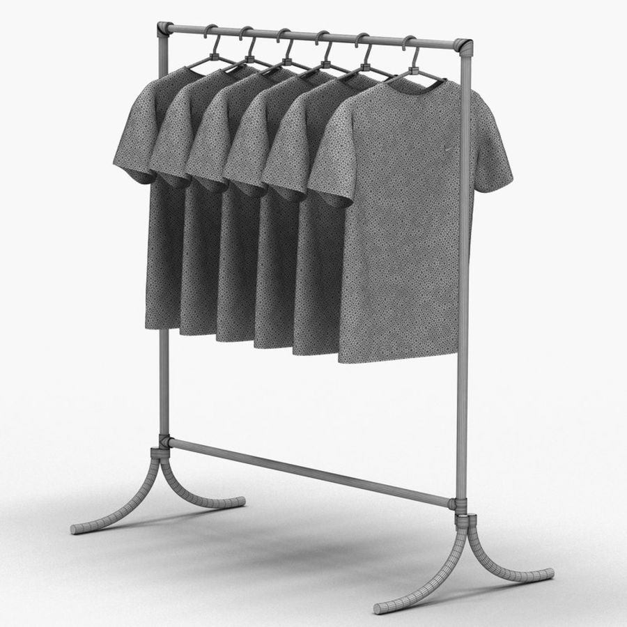 T-shirt met hanger royalty-free 3d model - Preview no. 6