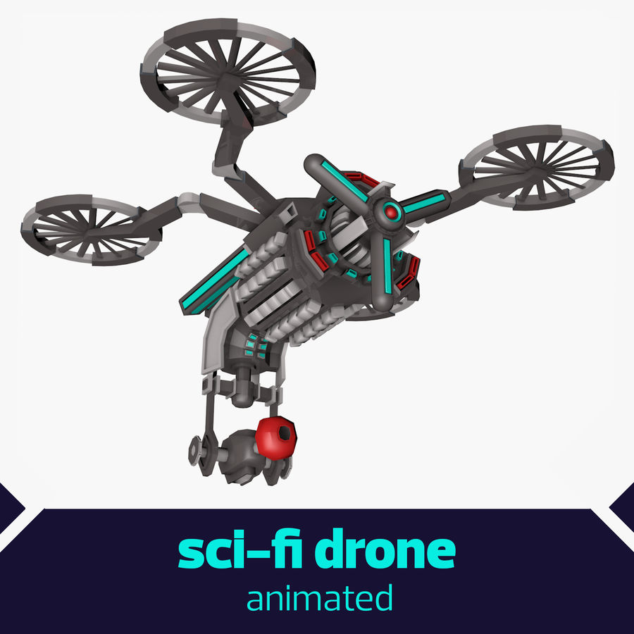 Sci-Fi Drone royalty-free 3d model - Preview no. 1