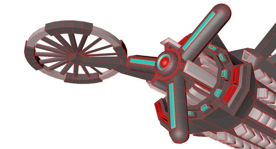 Sci-Fi Drone royalty-free 3d model - Preview no. 14