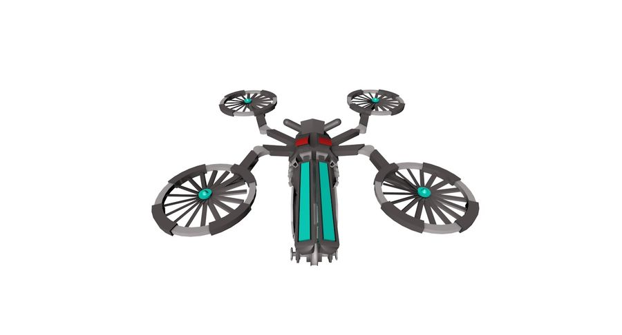 Sci-Fi Drone royalty-free 3d model - Preview no. 10