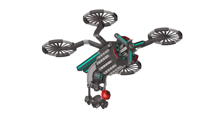 Sci-Fi Drone royalty-free 3d model - Preview no. 9