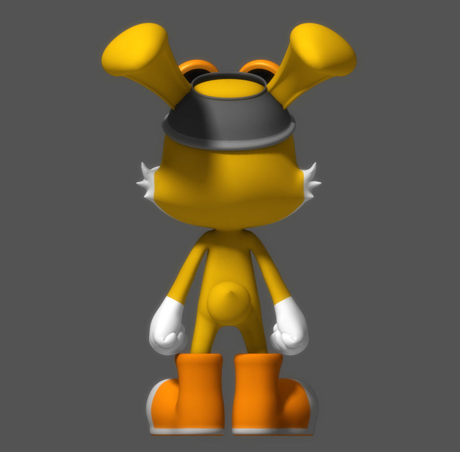 Cartoon Rabbit royalty-free 3d model - Preview no. 3