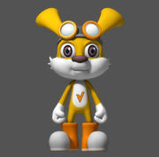 Cartoon konijn 3d model