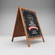 Restaurant board 2 3d model
