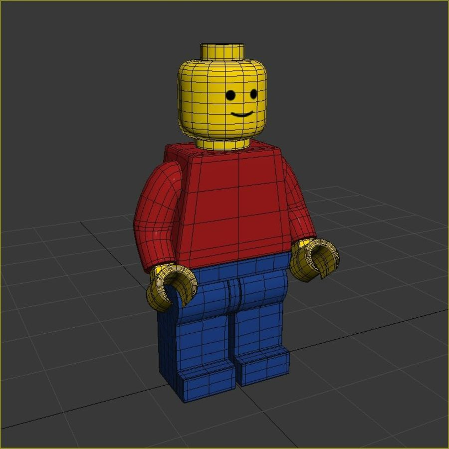 Lego Basic Man royalty-free 3d model - Preview no. 8