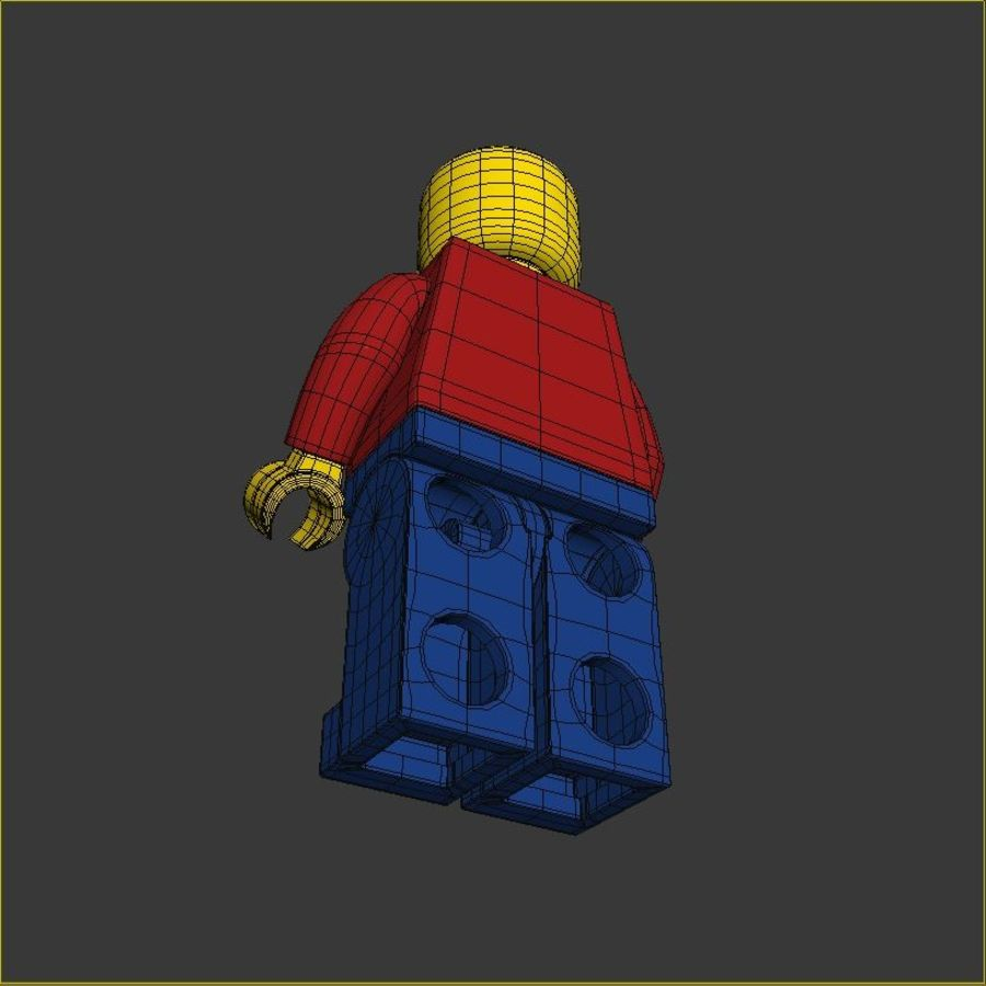 Lego Basic Man royalty-free 3d model - Preview no. 9