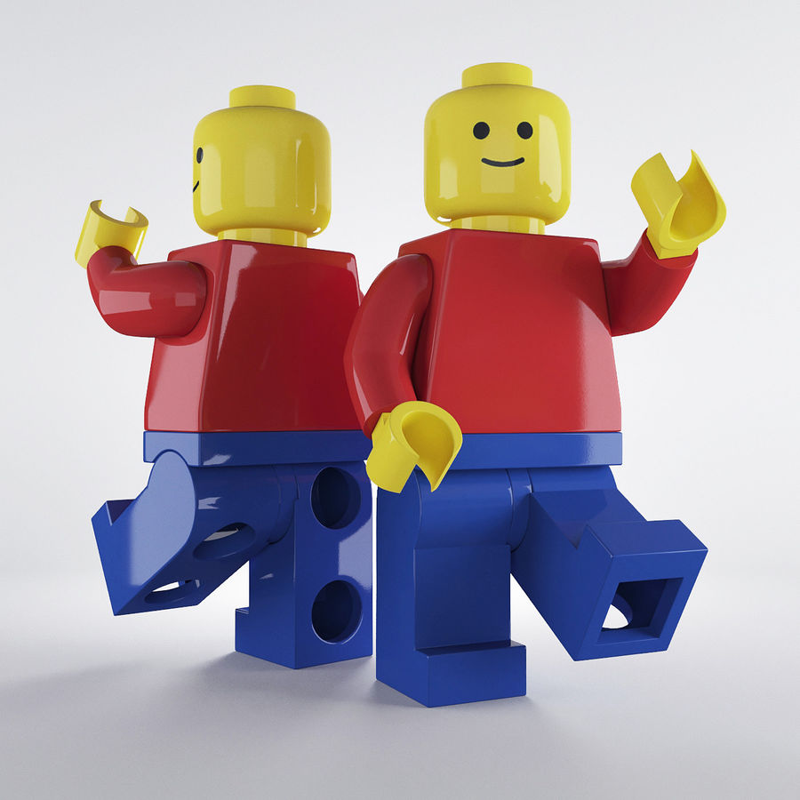Lego Basic Man royalty-free 3d model - Preview no. 2