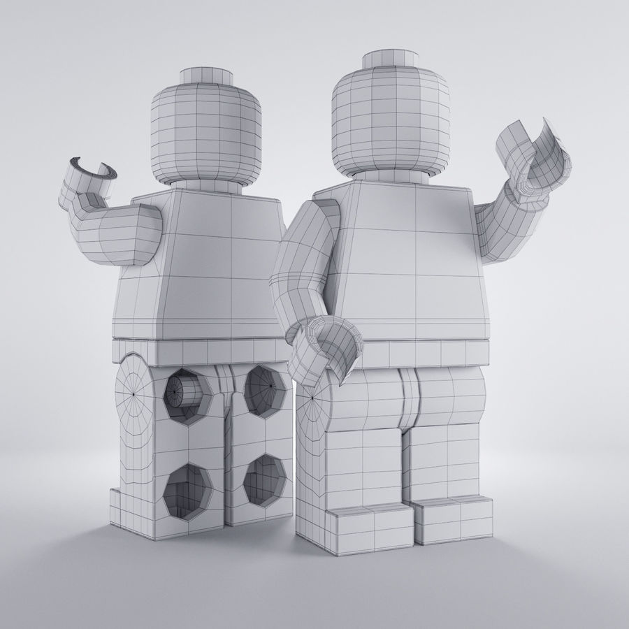 Lego Basic Man royalty-free 3d model - Preview no. 4
