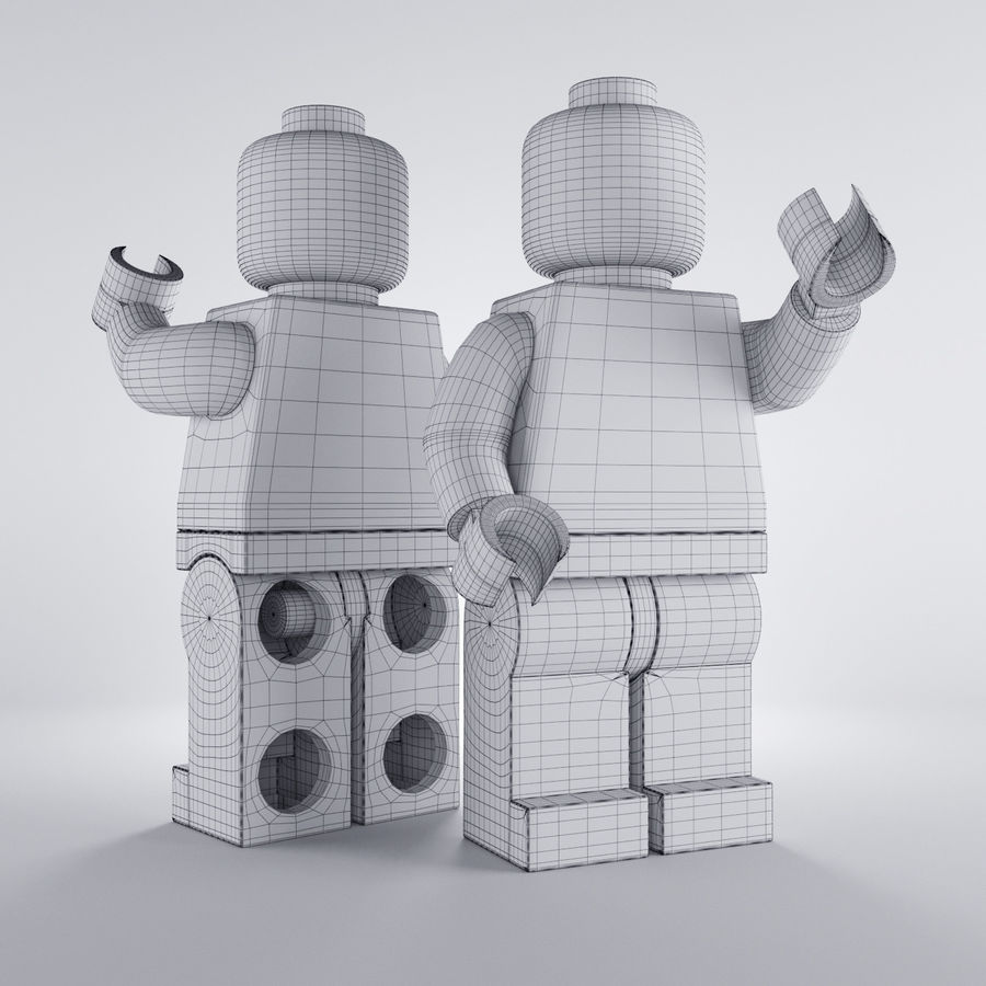 Lego Basic Man royalty-free 3d model - Preview no. 5