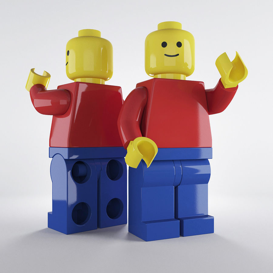 Lego Basic Man royalty-free 3d model - Preview no. 1