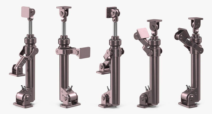 Anodized Hydraulic Cylinder 8 royalty-free 3d model - Preview no. 3