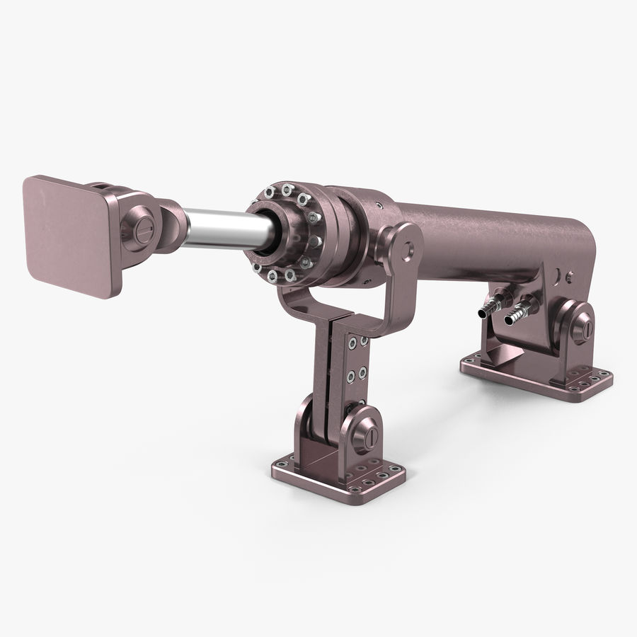 Anodized Hydraulic Cylinder 8 royalty-free 3d model - Preview no. 1