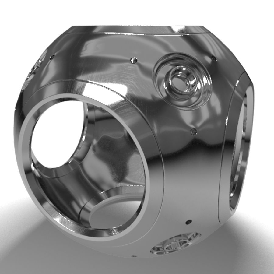 Metal Sphere royalty-free 3d model - Preview no. 3