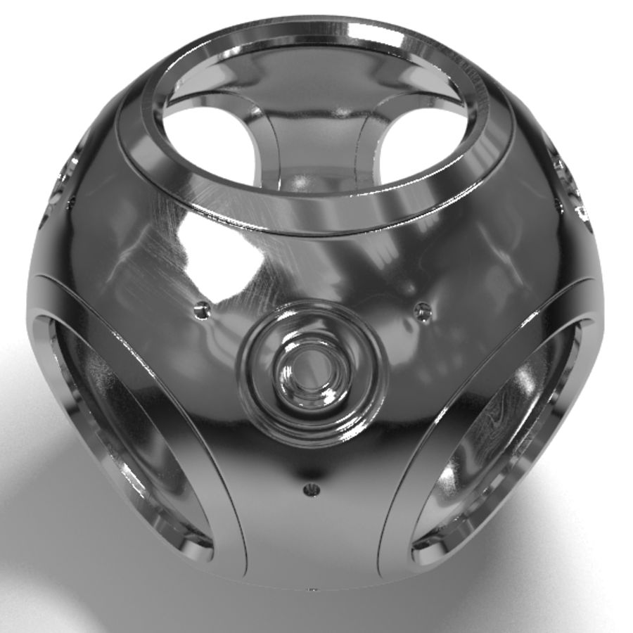 Metal Sphere royalty-free 3d model - Preview no. 2