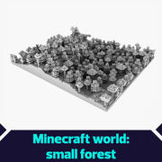 Minecraft pequena floresta 3d model
