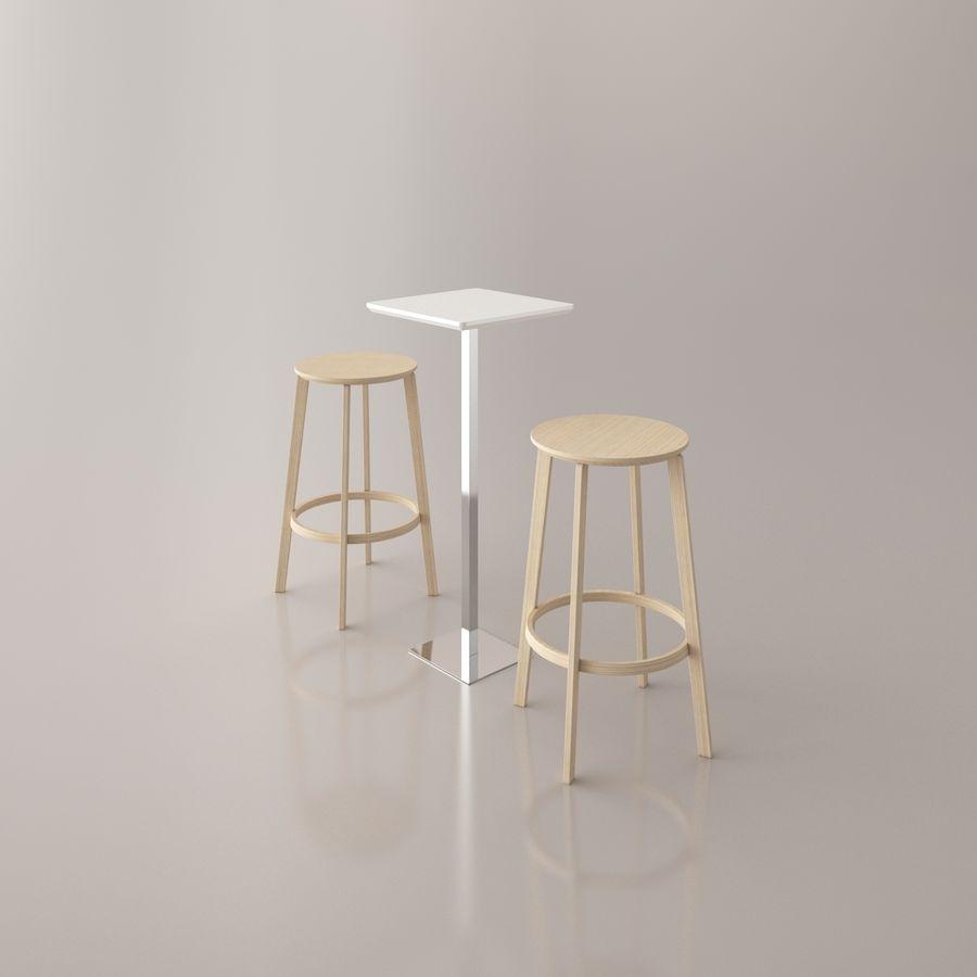 Sedia e tavolo da bar royalty-free 3d model - Preview no. 5