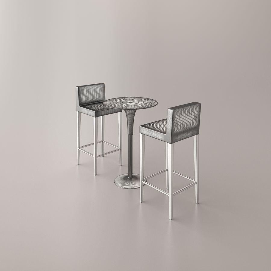 Sedia e tavolo da bar royalty-free 3d model - Preview no. 14