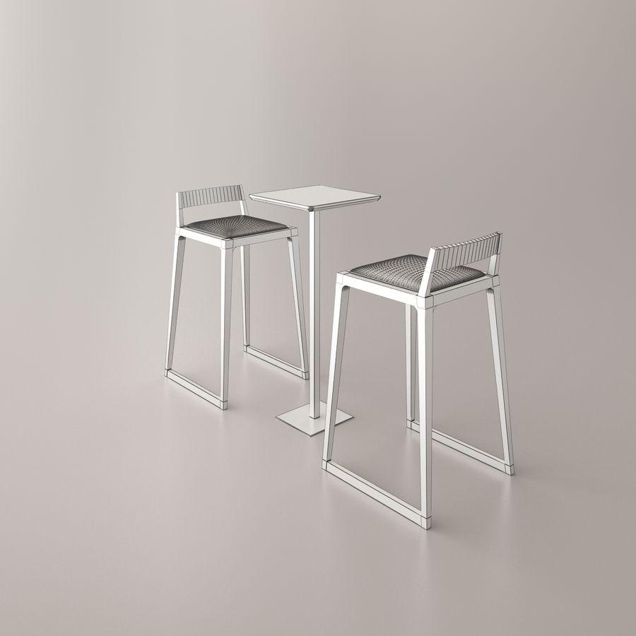 Sedia e tavolo da bar royalty-free 3d model - Preview no. 2