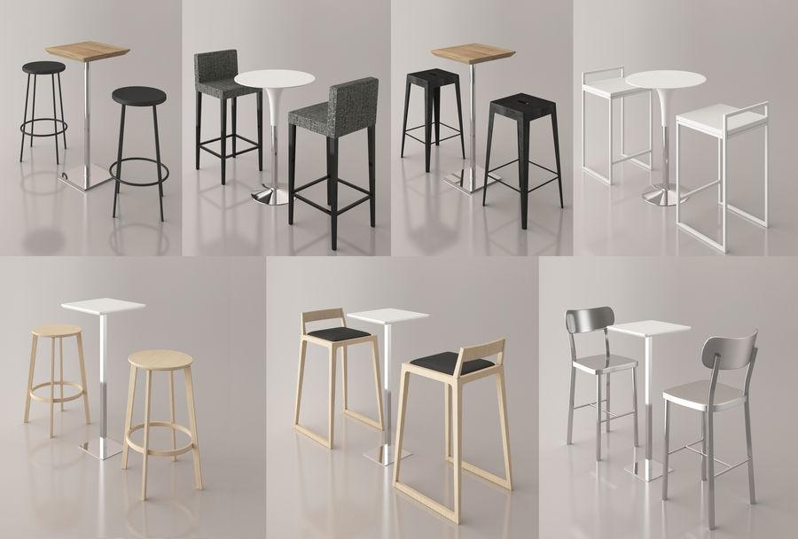 Sedia e tavolo da bar royalty-free 3d model - Preview no. 1