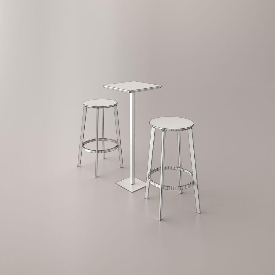 Sedia e tavolo da bar royalty-free 3d model - Preview no. 4
