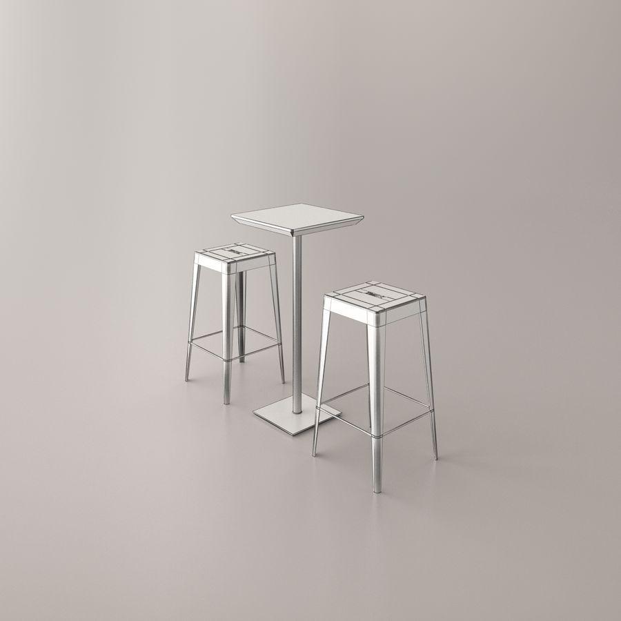 Sedia e tavolo da bar royalty-free 3d model - Preview no. 6
