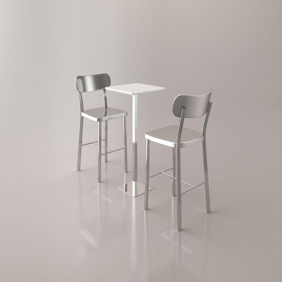 Sedia e tavolo da bar royalty-free 3d model - Preview no. 9