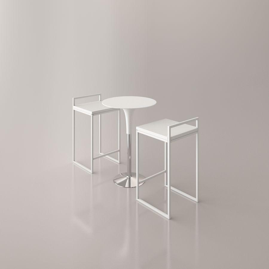Sedia e tavolo da bar royalty-free 3d model - Preview no. 13
