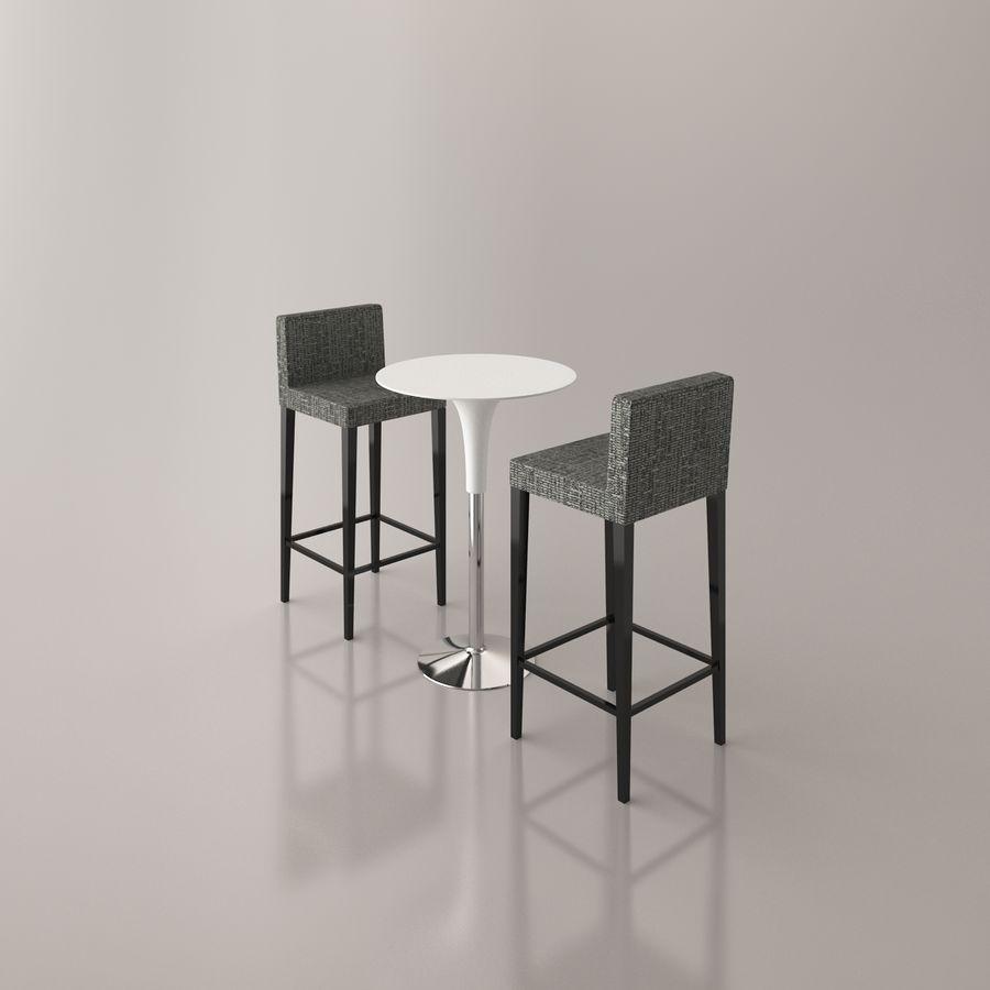 Sedia e tavolo da bar royalty-free 3d model - Preview no. 15