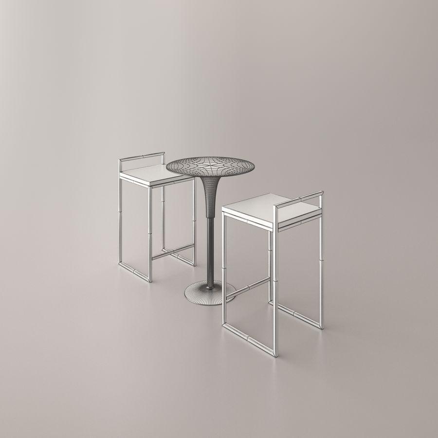 Sedia e tavolo da bar royalty-free 3d model - Preview no. 12