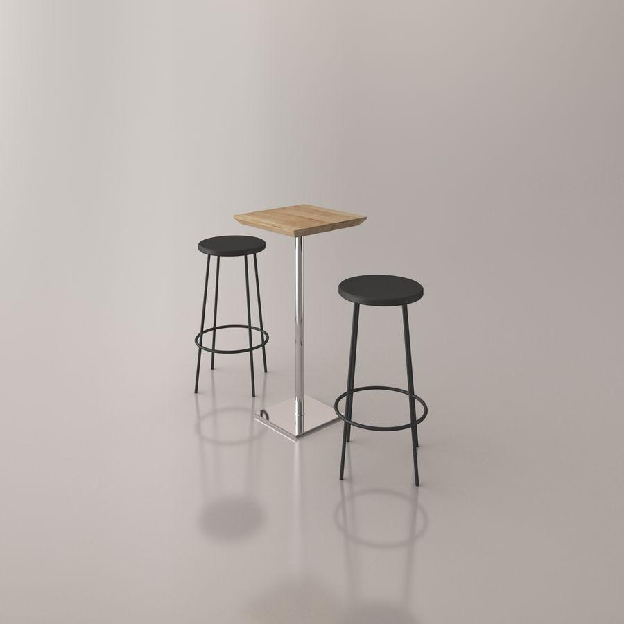 Sedia e tavolo da bar royalty-free 3d model - Preview no. 11