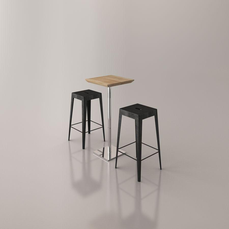 Sedia e tavolo da bar royalty-free 3d model - Preview no. 7