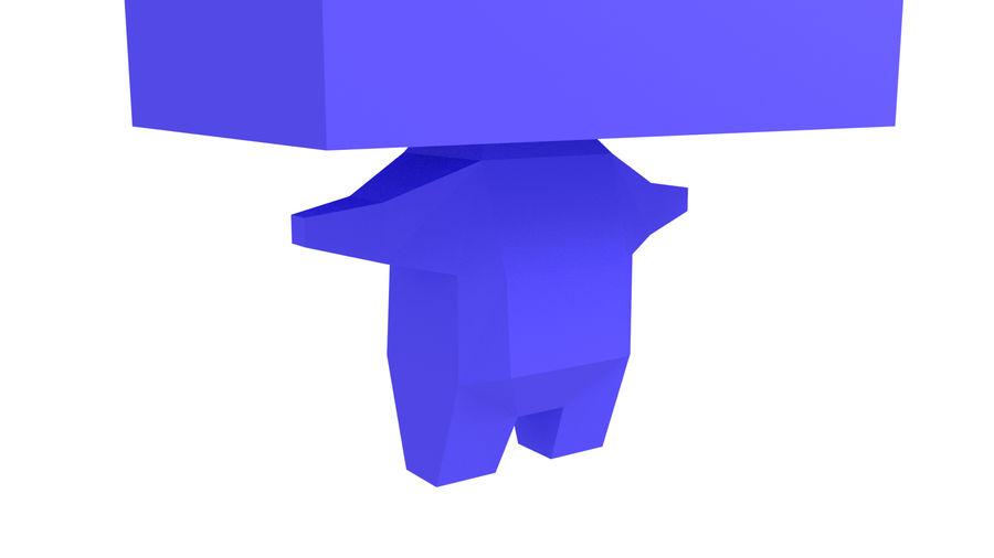 Низкополигональный персонаж royalty-free 3d model - Preview no. 4