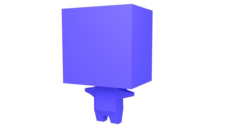 Низкополигональный персонаж royalty-free 3d model - Preview no. 1