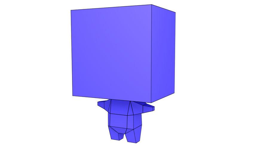 Низкополигональный персонаж royalty-free 3d model - Preview no. 2